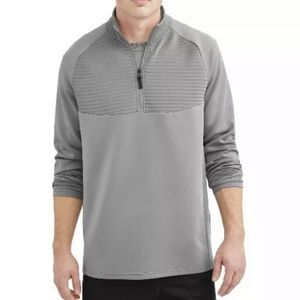 Russell Men's Small Grey Ottoman 1/4 Zip Top NWT